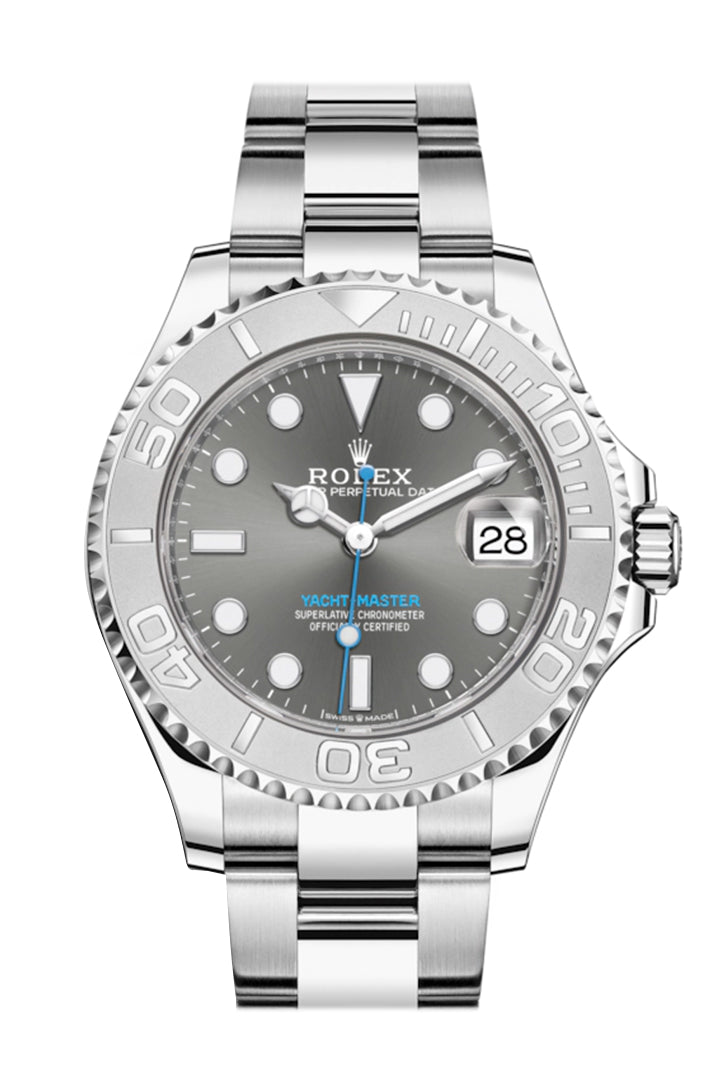Rolex Yacht-Master 37 Rhodium Dial Automatic Men's Oyster Watch 268622