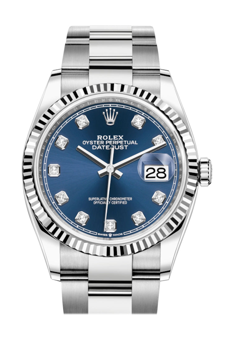 Rolex Datejust 36 Blue Diamond Dial Automatic Watch 126234