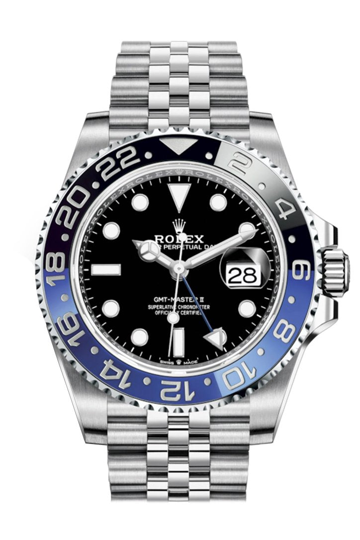 Rolex GMT-Master II Batman Black and Blue Bezel Automatic Men's Jubilee Watch 126710BLNR