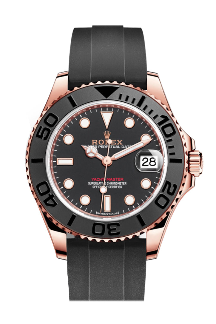 Rolex Yacht-Master 37 Black Dial Automatic 18kt Everose Gold Watch 268655