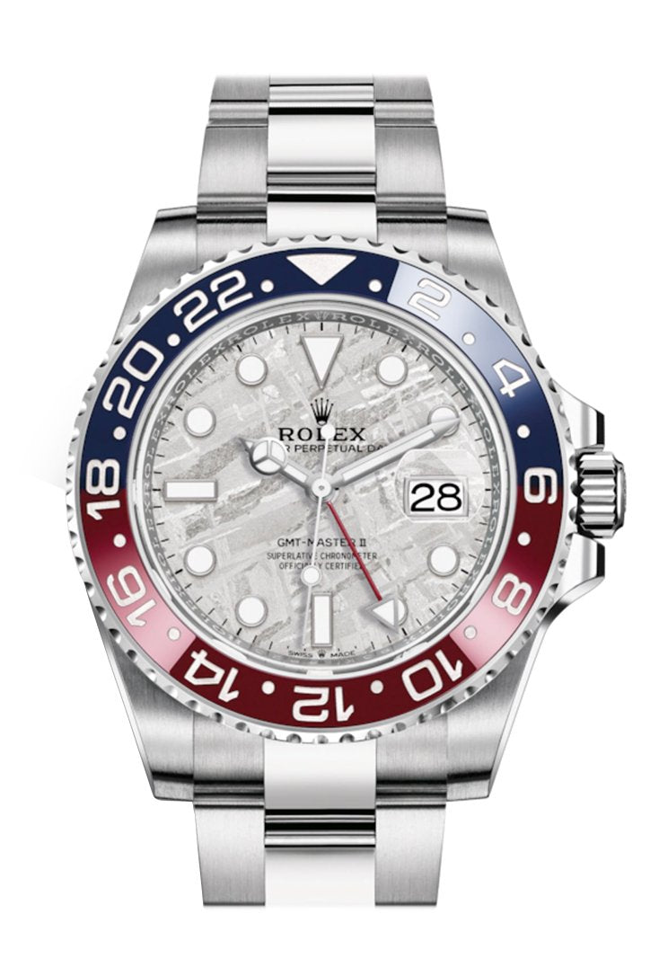 Rolex GMT-Master II White Gold Meteorite Dial Men's Watch 126719BLRO