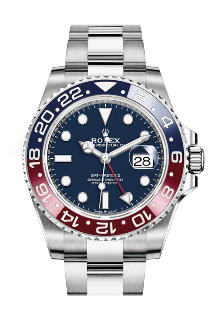 Rolex Gmt-Master Ii Blue Dial White Gold Mens Watch 126719Blro