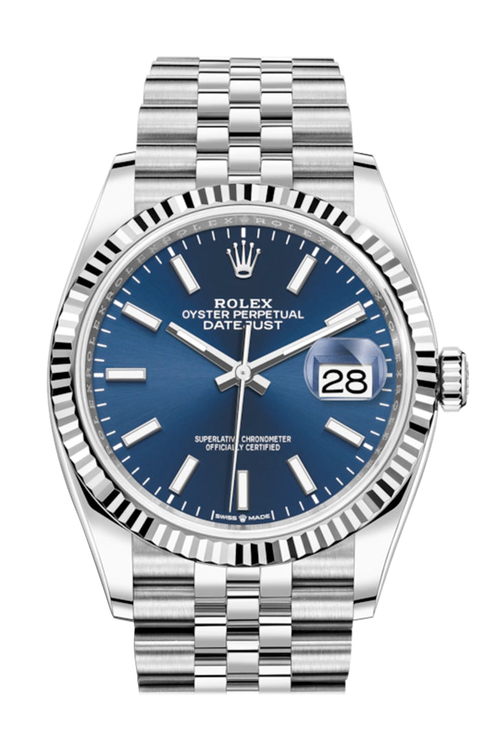 Rolex Datejust 36 Blue Dial Automatic Jubilee Watch 126234