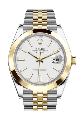 Rolex Datejust 41 White Dial Steel and 18K Yellow Gold Jubilee Men's Watch 126303
