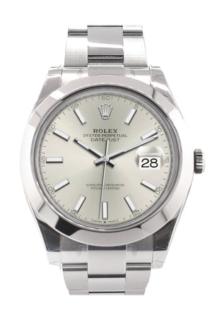 Rolex Datejust 41 Silver Dial Automatic Men's Watch 126300
