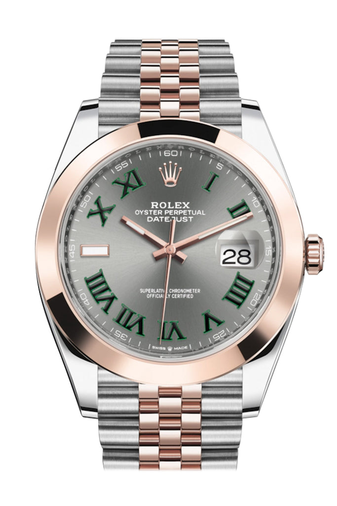Rolex Datejust 41 Slate Dial Steel and 18K Rose Gold Men's Watch 126301