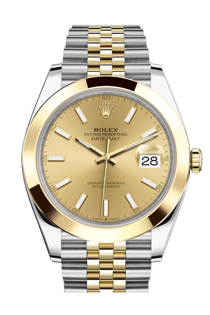 Rolex Datejust 41 Champagne Dial Steel and 18K Yellow Gold Jubilee Men's Watch 126303