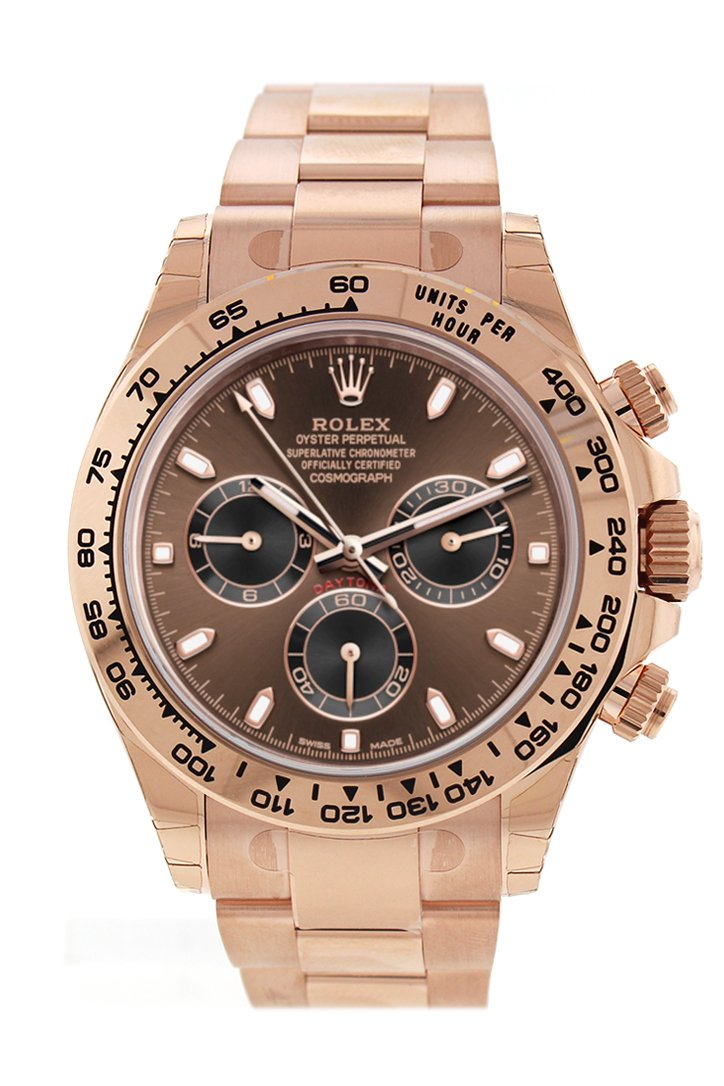 Rolex Cosmograph Daytona Chocolate Dial 18K Everose Gold Oyster Automatic Mens Watch 116505