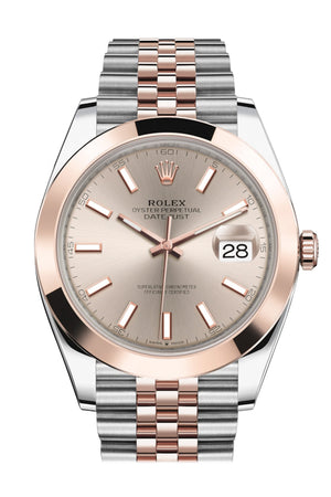 Rolex Datejust 41 Sundust Dial Steel and 18K Rose Gold Men's Watch 126301