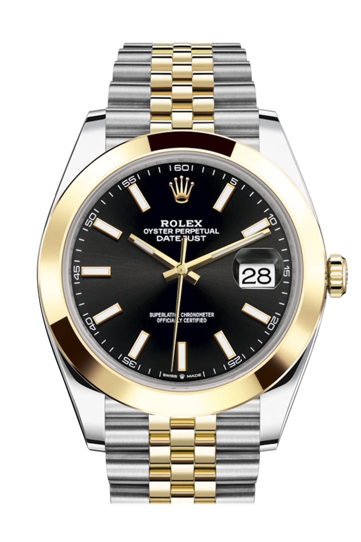 Rolex Datejust 41 Black Dial Steel and 18K Yellow Gold Jubilee Men's Watch 126303