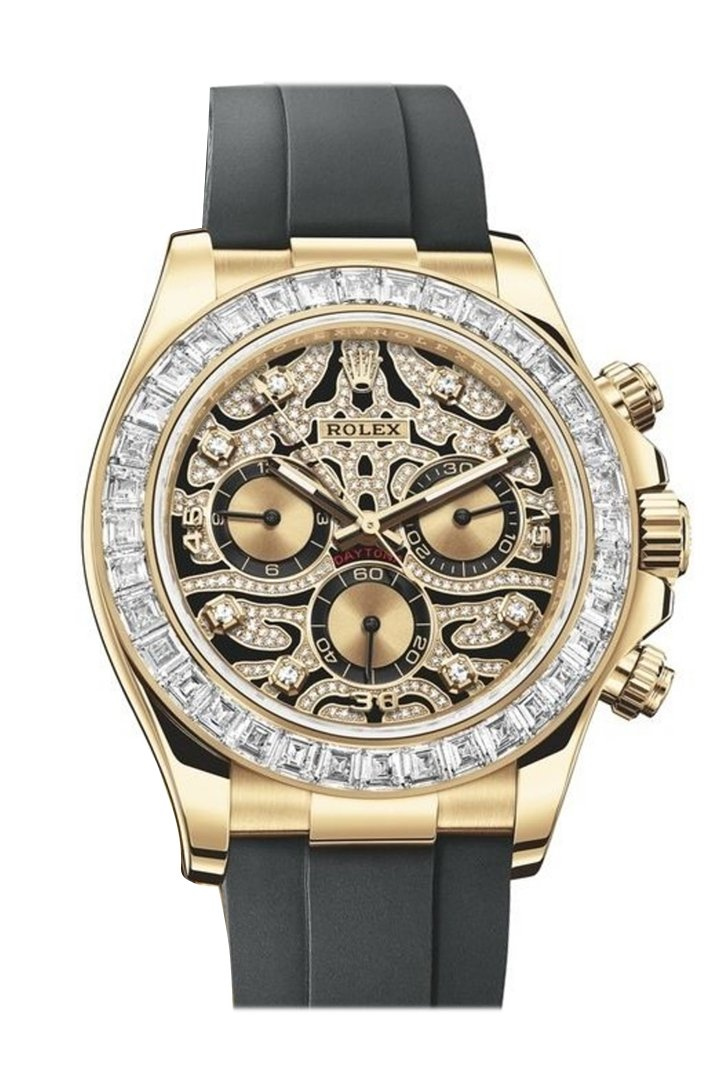 Rolex Cosmograph Daytona Eye Of The Tiger Chronograph Automatic Chronometer Diamond Mens Watch