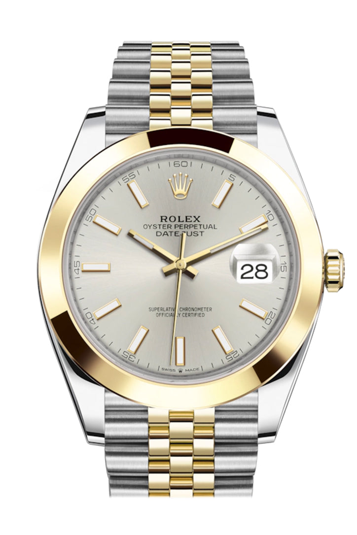 Rolex Datejust 41 Silver Dial Steel and 18K Yellow Gold Jubilee Men's Watch 126303