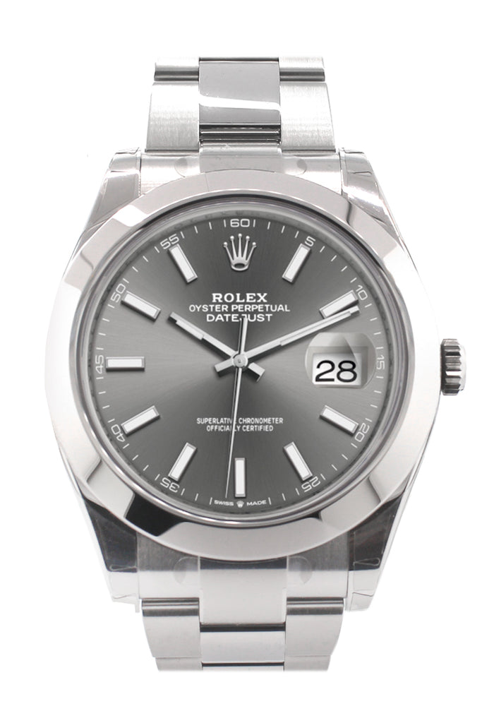 Rolex Datejust 41 Dark Rhodium Dial Automatic Men's Watch 126300