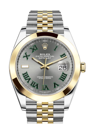 Rolex Datejust 41 Slate Roman Dial White Gold Jubilee Mens Watch 126303