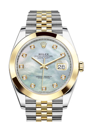 Rolex Datejust 41 Mother-of-pearl set with Diamonds Dial 18k Yellow Gold Jubilee Mens Watch 126303