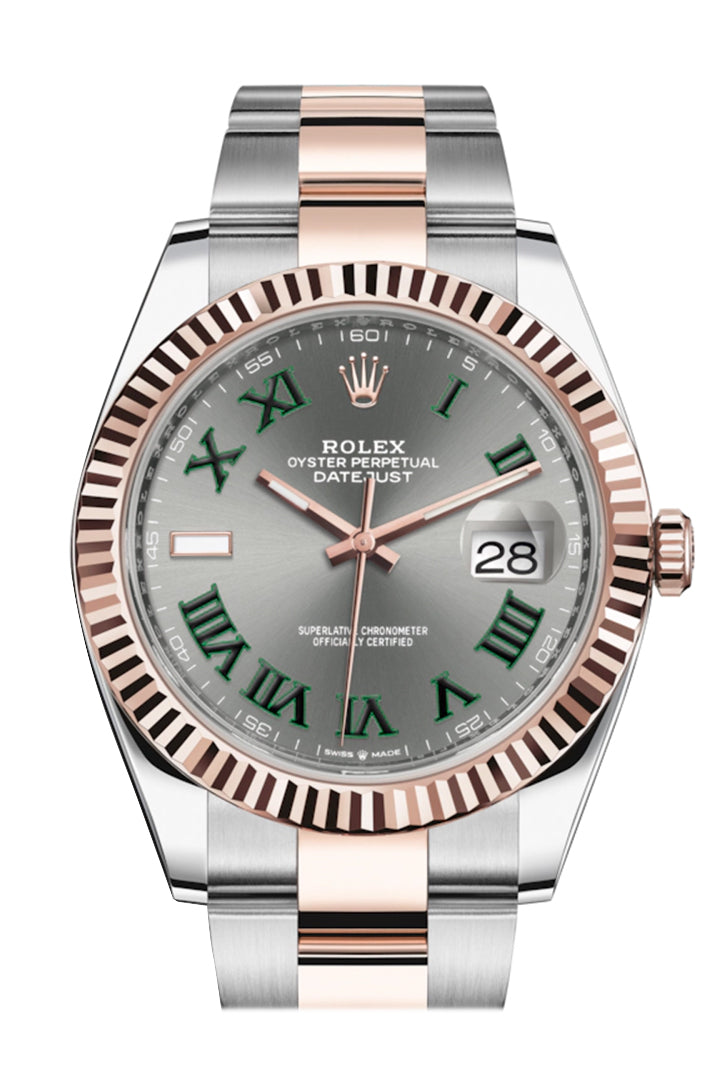 Rolex Datejust 41 Slate Dial Men's Steel and 18kt Everose Gold Oyster Watch 126331