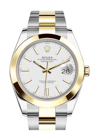 Rolex Datejust 41 White Dial Steel and 18K Yellow Gold Oyster Men's Watch 126303
