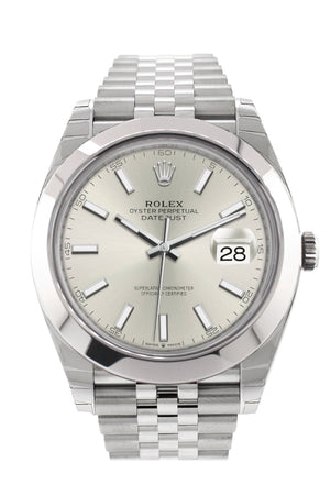 Rolex Datejust 41 Silver Dial Automatic Men's Jubilee Watch 126300