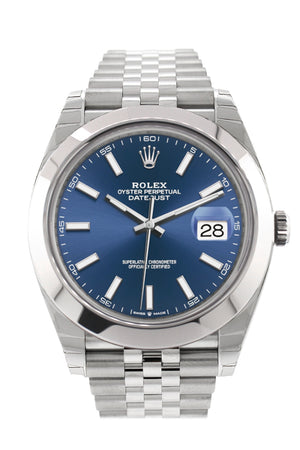 Rolex Datejust 41 Blue Dial Automatic Men's Jubilee Watch 126300