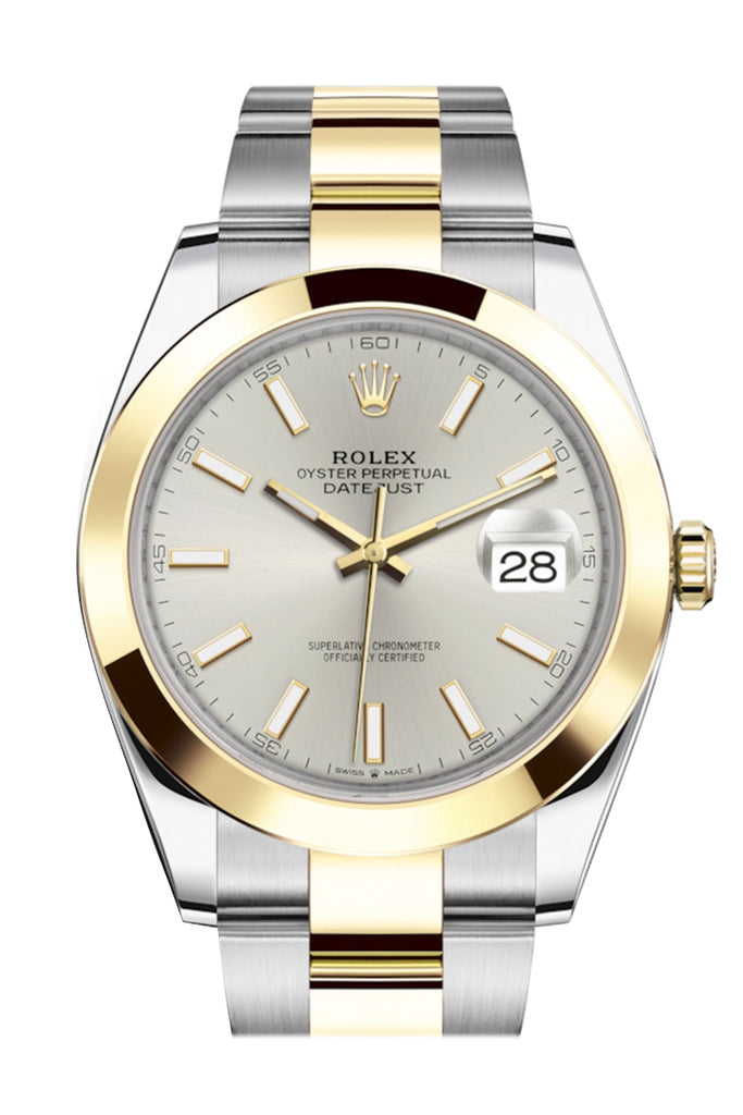 Rolex Datejust 41 Silver Dial Steel and 18K Yellow Gold Oyster Men's Watch 126303