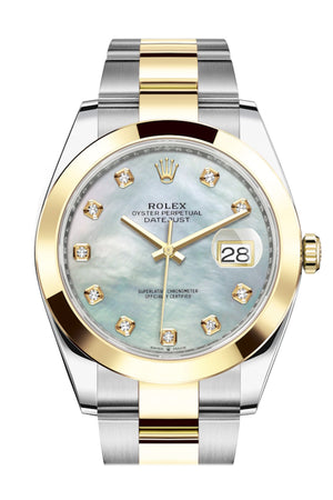 Rolex Datejust 41 Mother-of-pearl set with Diamonds Dial 18k Yellow Gold Mens Watch 126303