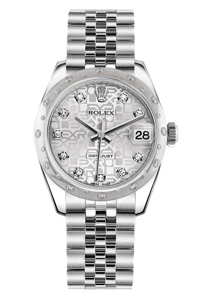 Rolex Datejust 31 Silver Jubilee Diamond Dial Dome set with Diamonds Bezel Jubilee Ladies Watch 178344
