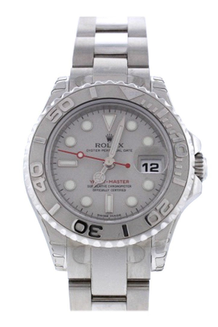 Rolex Yacht-Master 29 Lady-Size Watch 169622 Silver Pre-Owned-Watches