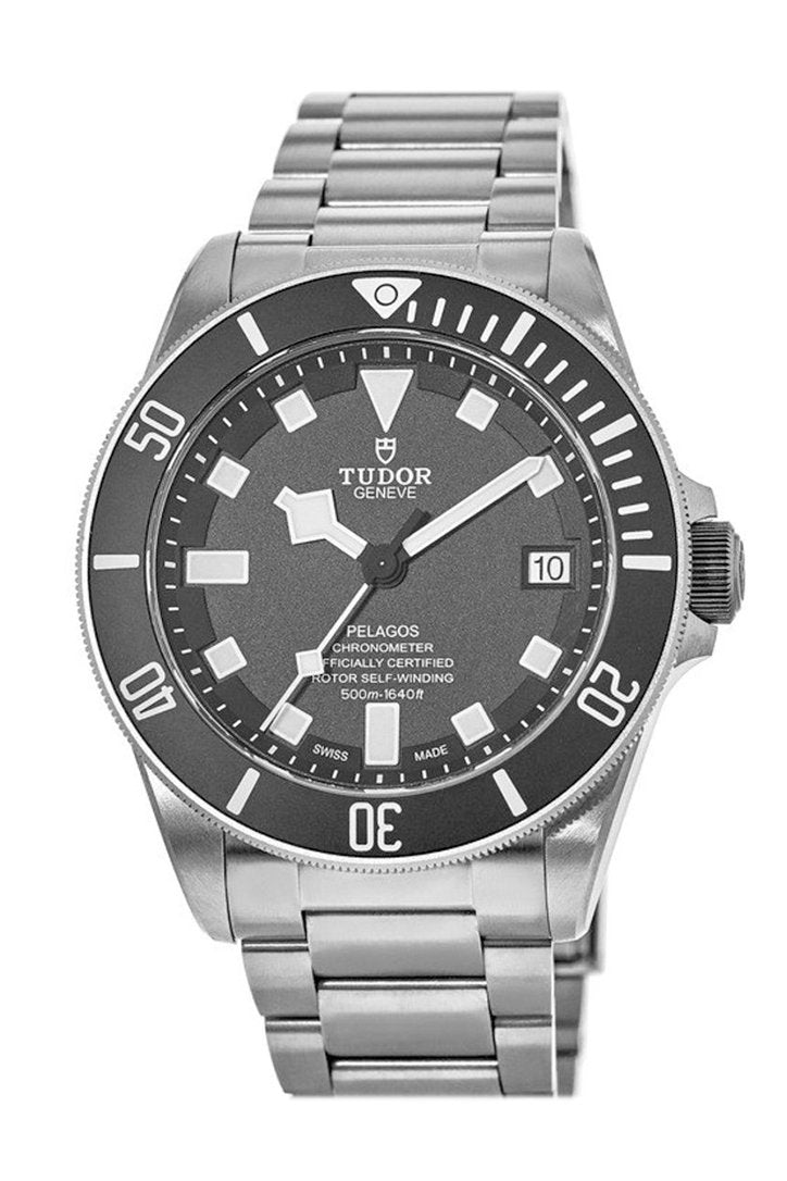 Tudor Pelagos Chronometer Black Dial Titanium Men's Watch 25600TN-0001