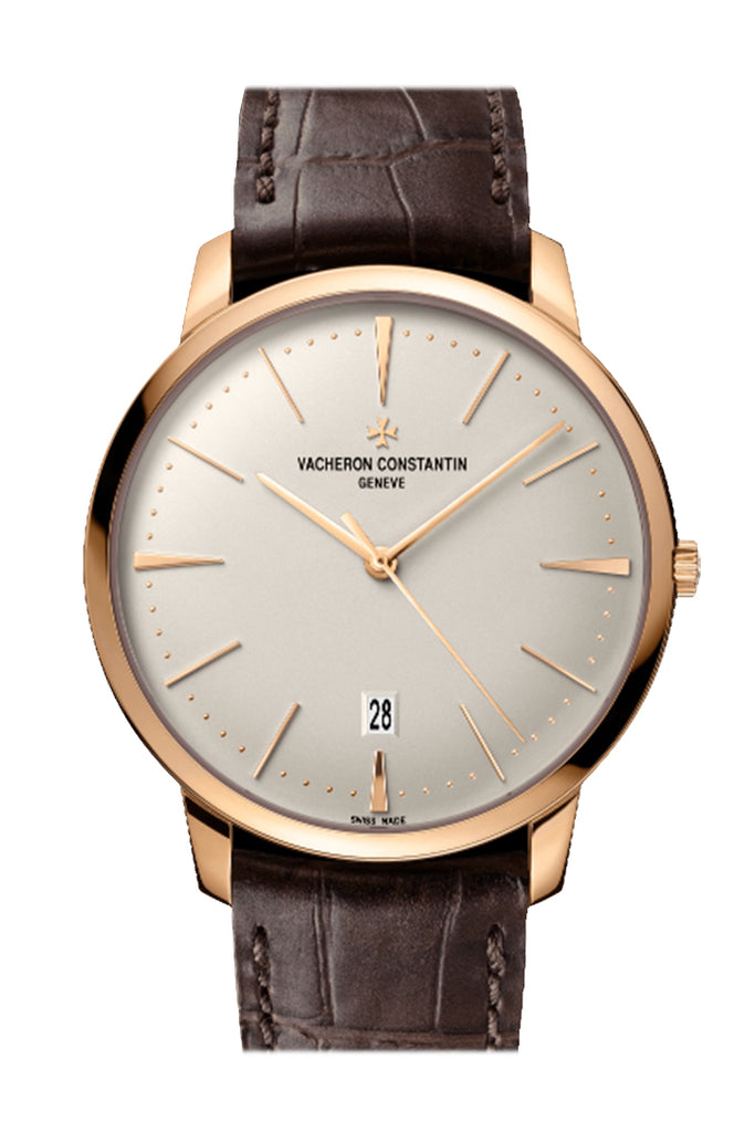 Vacheron Constantin Patrimony Silver Dial Rose Gold Men's Watch 85180/000R-9248