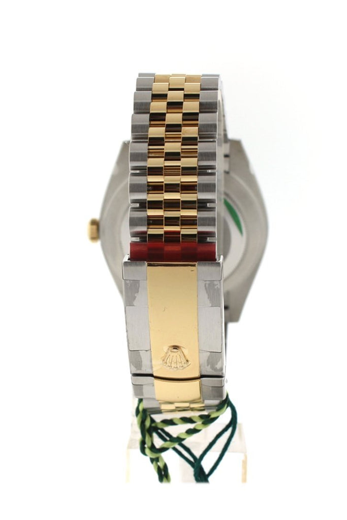 Custom Diamond Bezel Rolex Datejust 31 Silver Roman Large VI Diamond Dial Two Tone 18K Gold Jubilee Ladies Watch 178243