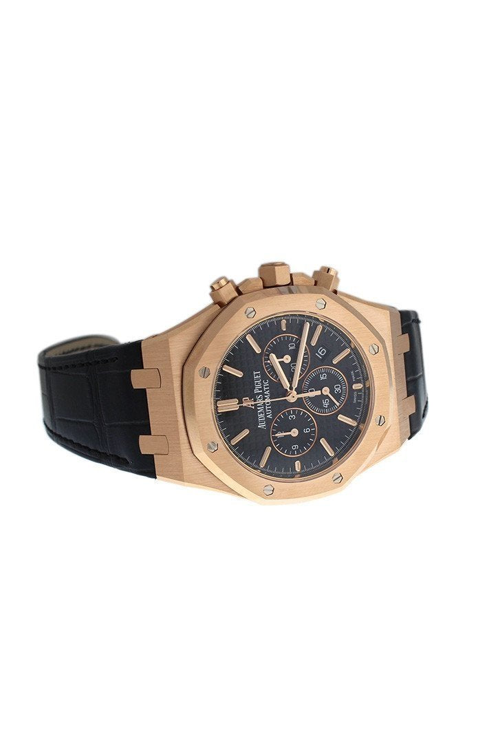 Audemars Piguet Royal Oak Chronograph 41Mm Pink Gold Blak Dial Watch 26320Or.oo.d002Cr.01