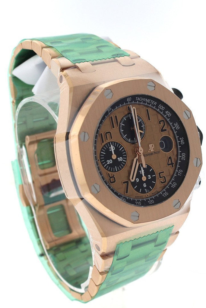 Audemars Piguet Royal Oak Offshore Chronograph Pink Gold Dial 18Kt Mens Watch 26470Or.oo.1000Or.01