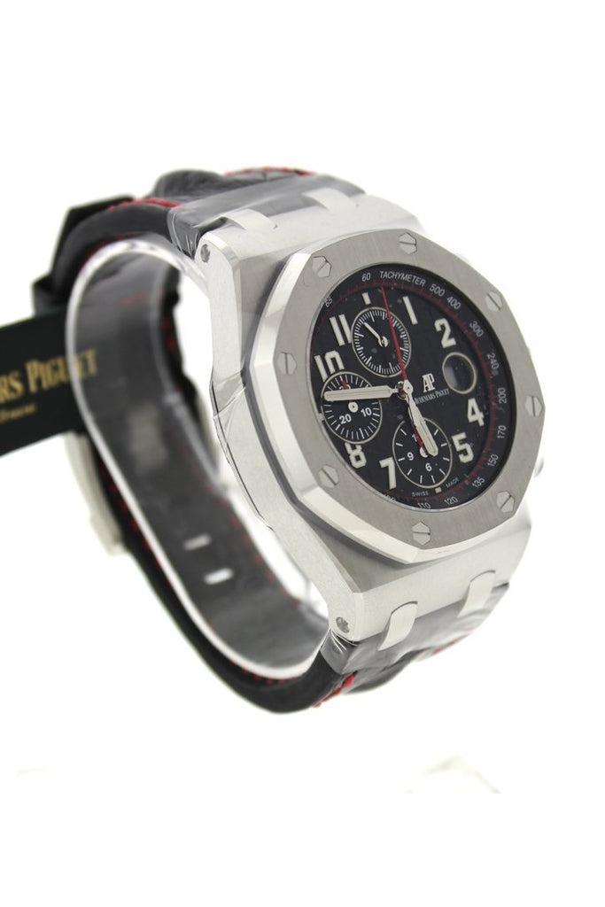 Audemars Piguet Royal Oak Offshore Vampire Black Dial Black Alligator Leather Men's Watch 26470ST.OO.A101CR.01