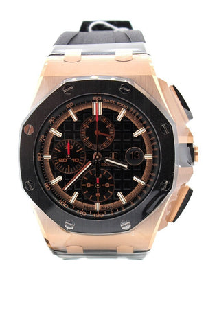 Audemars Piguet Royal Oak Offshore Black Mega Tapisserie Chronograph Dial Mens Watch