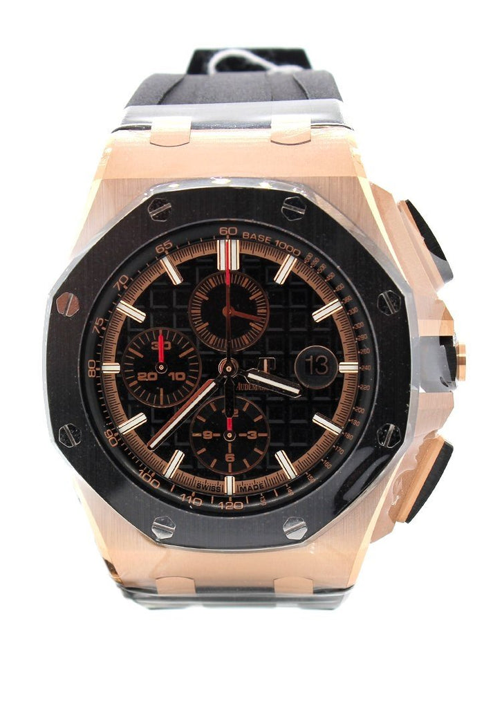 Audemars Piguet Royal Oak Offshore Black Mega Tapisserie Chronograph Dial Men's Watch 26401RO.OO.A002CA.02
