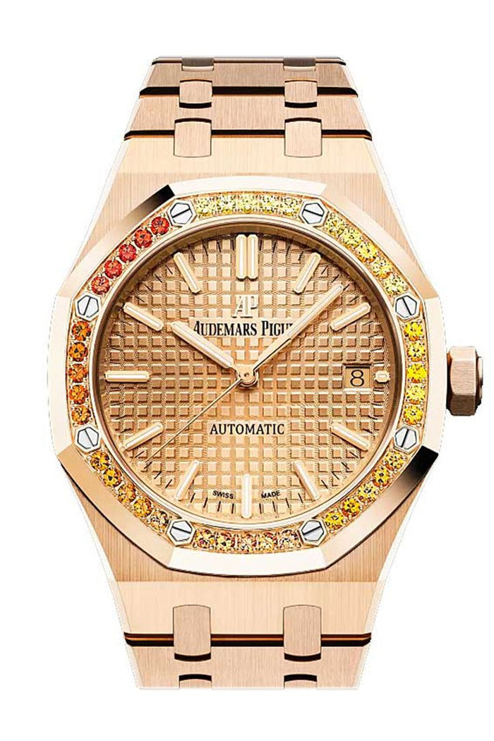 Audemars Piguet Royal Oak 37mm Rose Gold Dial Diamond Bezel Rose Gold 15451OR.YY.1256OR.01