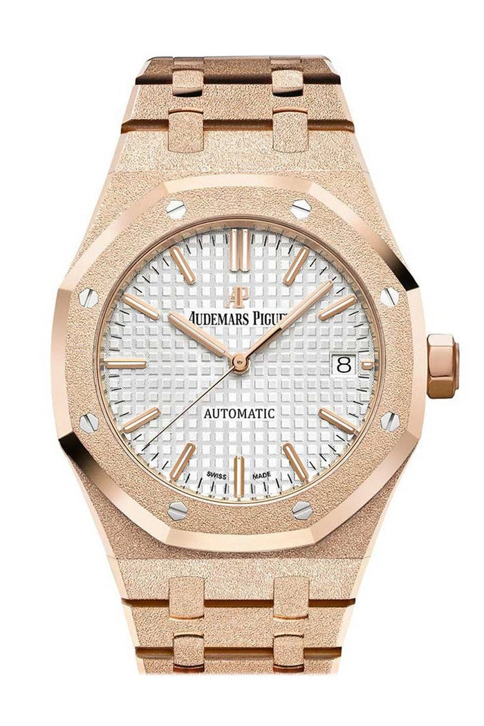 Audemars Piguet Royal Oak Frosted Pink gold-toned Dial Ladies Rose Gold Watch 15454OR.GG.1259OR.03