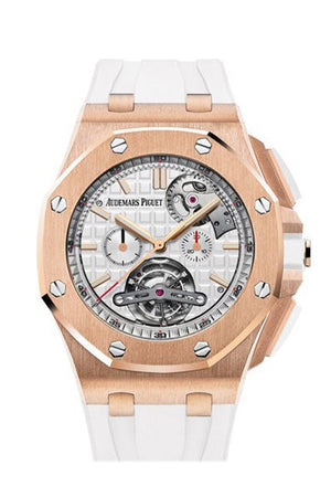 Audemars Piguet Royal Oak Offshore Tourbillon Silver Dial Automatic Mens Watch 26540Or.oo.a010Ca.01