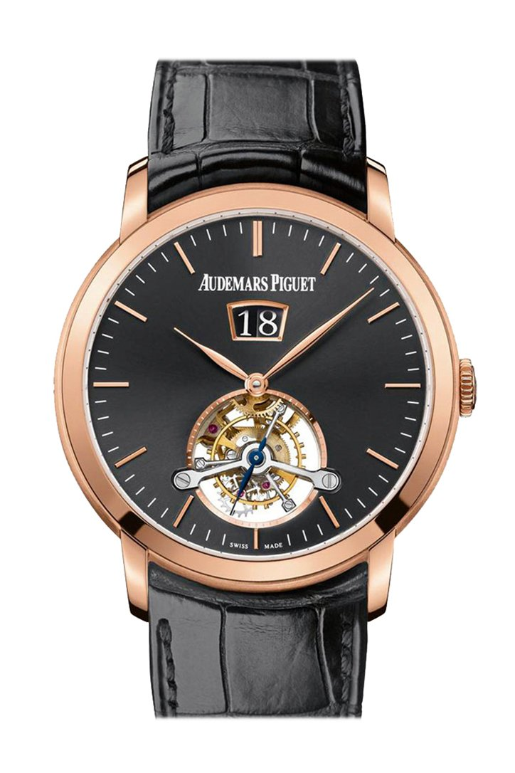 Audemars Piguet Jules Tourbillon Black Dial Mens Watch 26559Or.oo.d002Cr.01