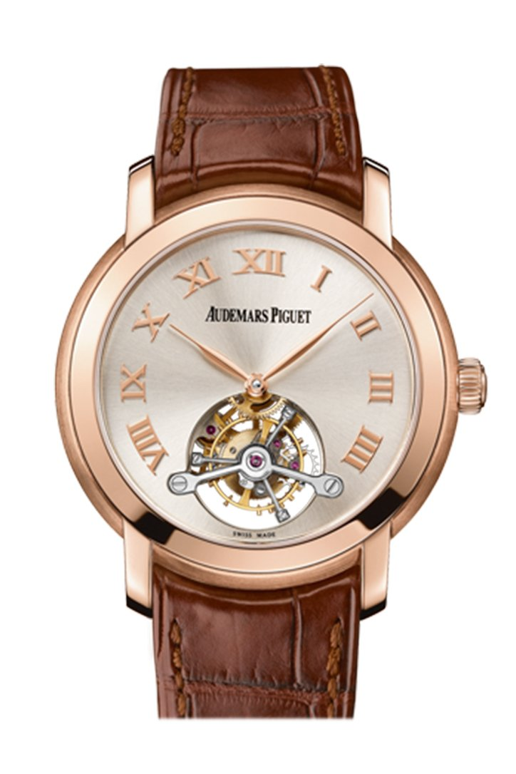 Audemars Piguet Jules Tourbillon Silver Dial Rose Gold 26561Or.oo.d088Cr.01 Watch