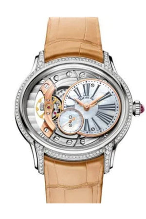Audemars Piguet Millenary White Mother Of Pearl Dial Hand Wind Ladies Watch 77247Bc.zz.a813Cr.01