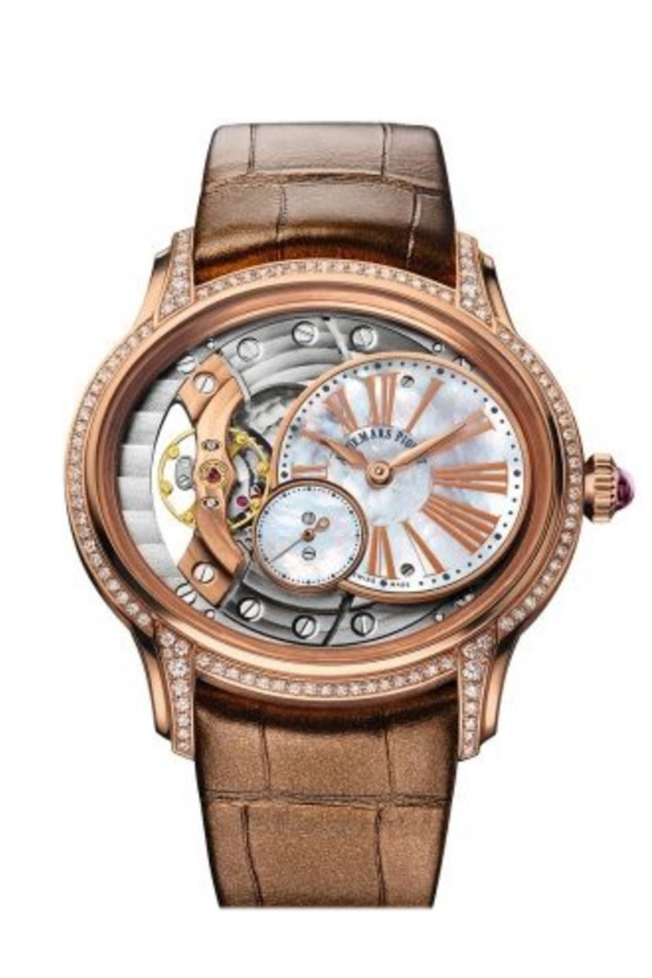 Audemars Piguet Millenary Lady Hand-Wound Watch 77247Or.zz.a812Cr.01