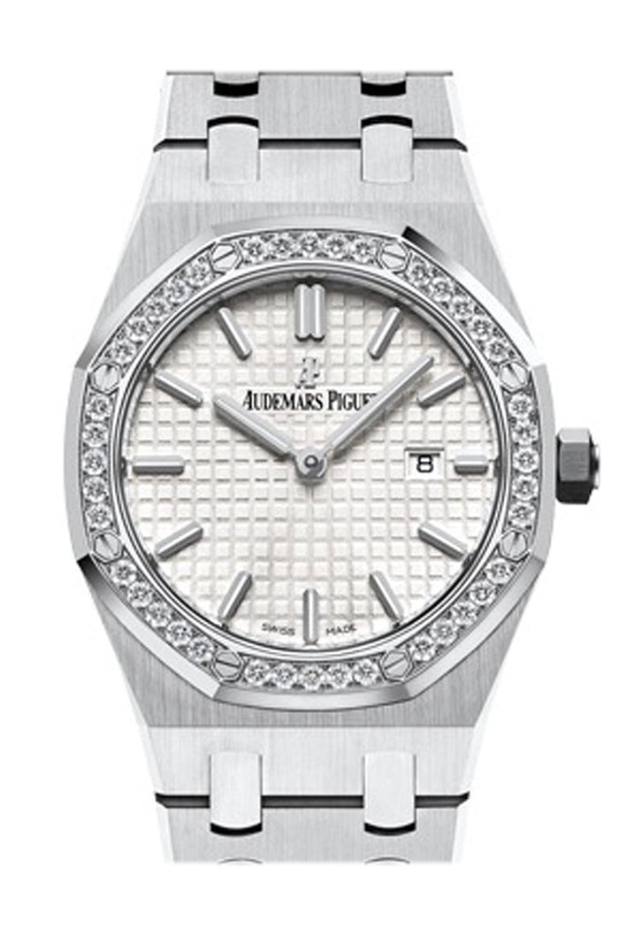 Audemars Piguet Royal Oak Lady 33mm Silver Dial Diamond Stainless steel Gold Ladies Watch 67652BC.ZZ.1262BC.01
