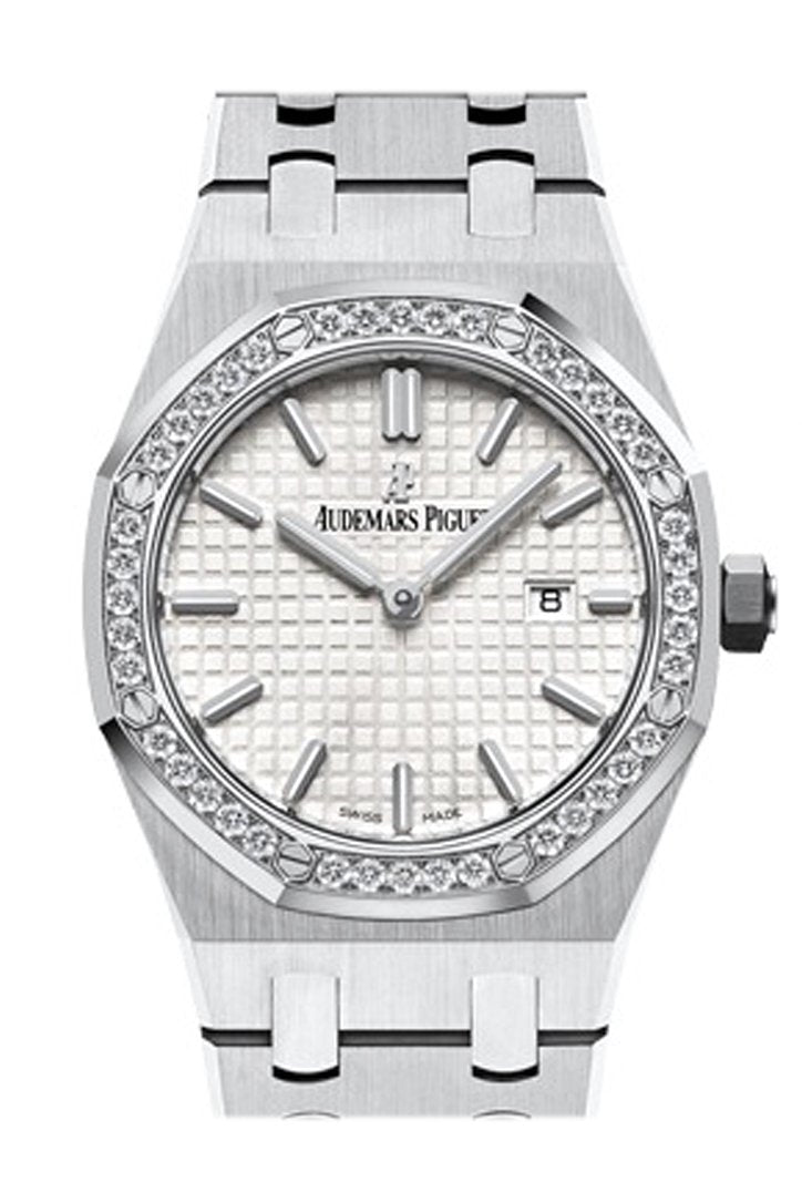 Audemars Piguet Royal Oak Lady 33Mm Silver Dial Diamond Stainless Steel Gold Ladies Watch