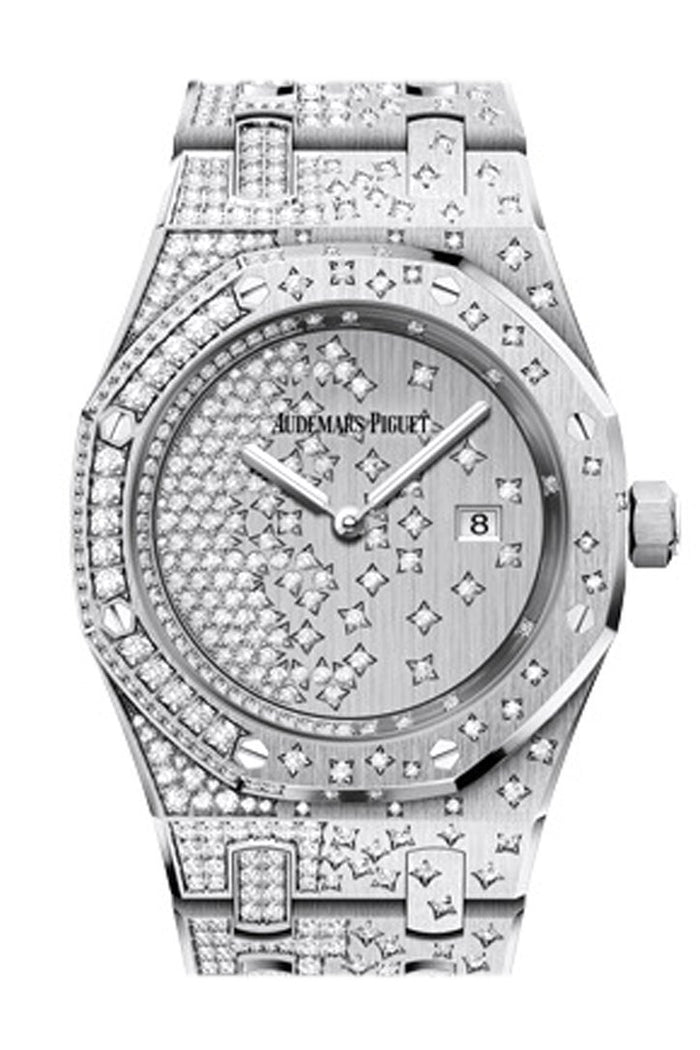 Audemars Piguet Royal Oak 33mm Diamond set Dial Diamond White Gold Diamond Ladies 67654BC.ZZ.1264BC.01