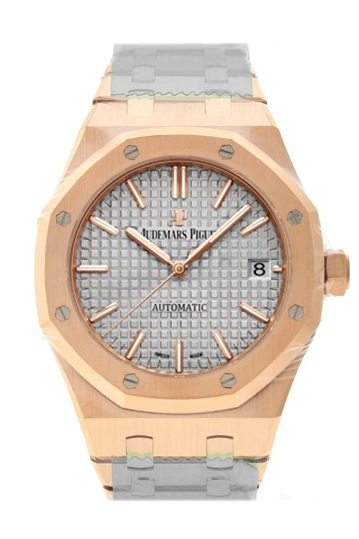 Audemars Piguet Royal Oak 37mm Nickel Grey Dial 18K Rose Gold Automatic  Watch 15450OR.OO.1256OR.01