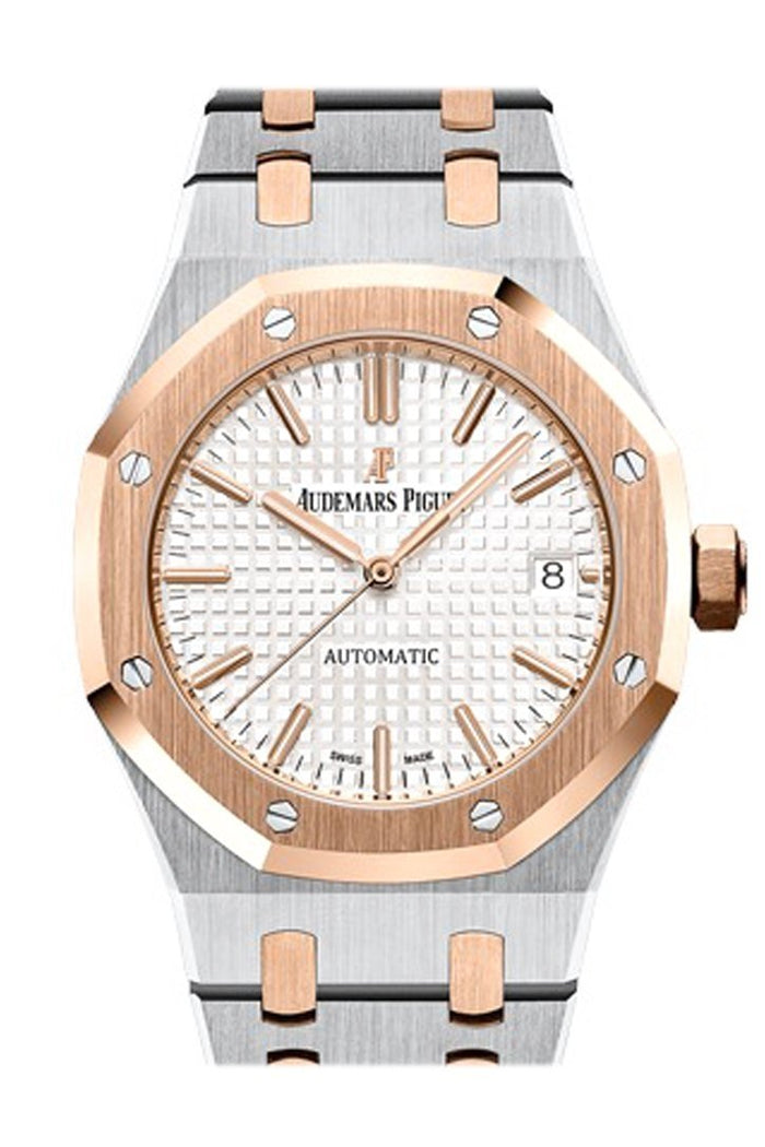 Audemars Piguet Royal Oak 37mm Silver Dial Automatic Two Tone Midsize Watch 15450SR.OO.1256SR.01