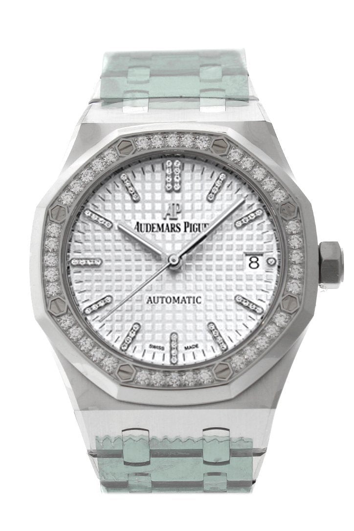 Audemars Piguet Royal Oak 37Mm Rhodium-Toned Diamond Dial Titanium 15453Ip.zz.1256Ip.01 Rhodium