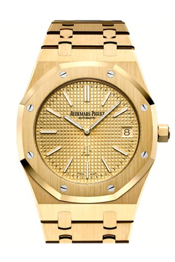 Audemars Piguet Royal Oak Yellow-gold Dial Extra-Thin 18K Yellow Gold Watch 15202BA.OO.1240BA.02