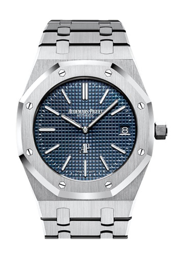 Audemars Piguet Royal Oak Blue Dial Extra-Thin Stainless steel Watch 15202ST.OO.1240ST.01